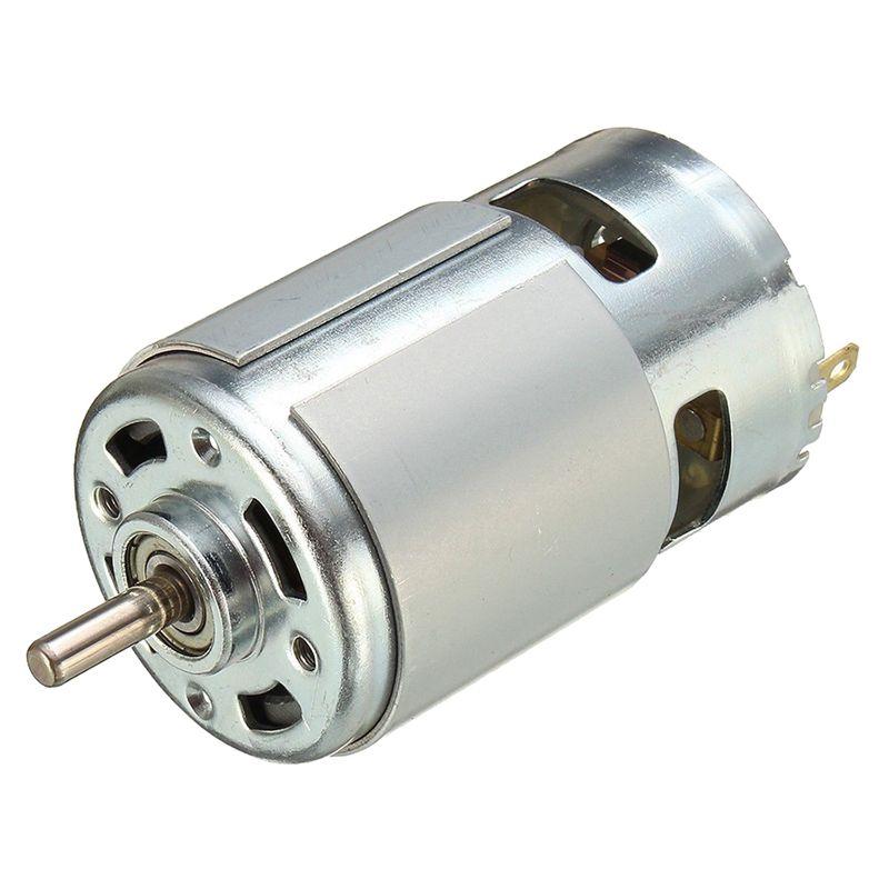 775 DC 12V-36V 3500-9000RPM Motor Large Torque Ball Bearing High Power Low Noise