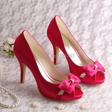 Горячие Продажи Пользовательских Ручной Fuchisa Свадьба Обувь Пищу Пальцами Dropship
