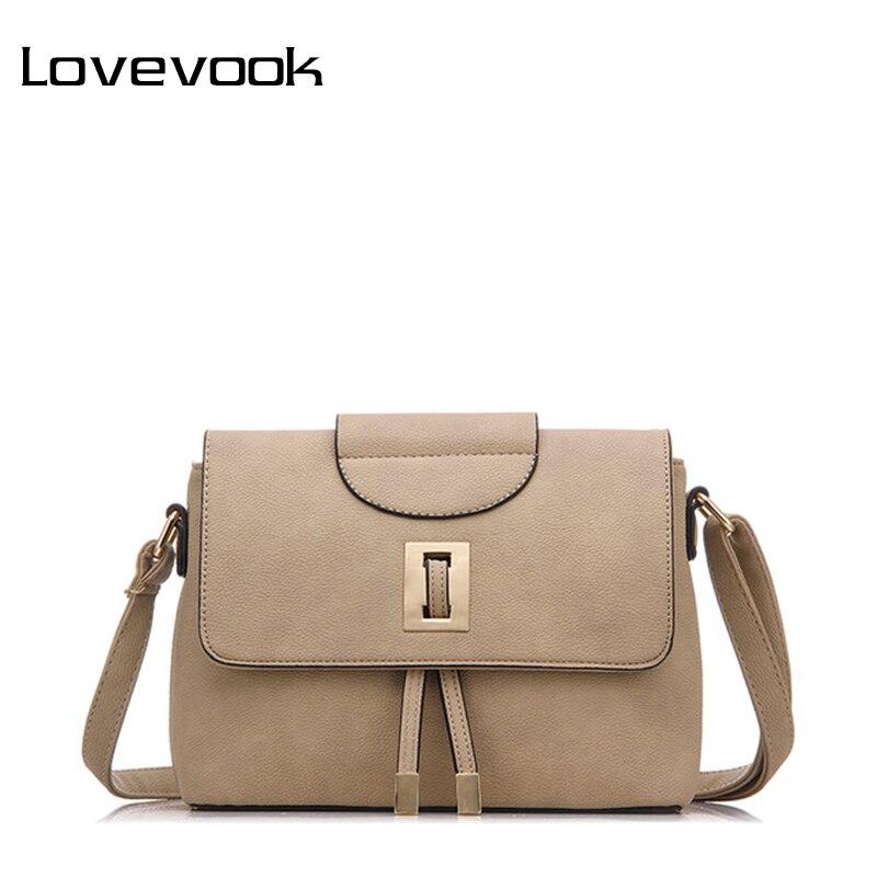LOVEVOOK brand fashion female shoulder crossbody bag high quality messenger bags for women 2017 ladies zipper retro handbag