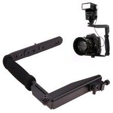 Камера кронштейн вспышки Алюминий металлический кронштейн сцепление Камера flash Arm держатель 635 для цифровой камеры tlr SLR