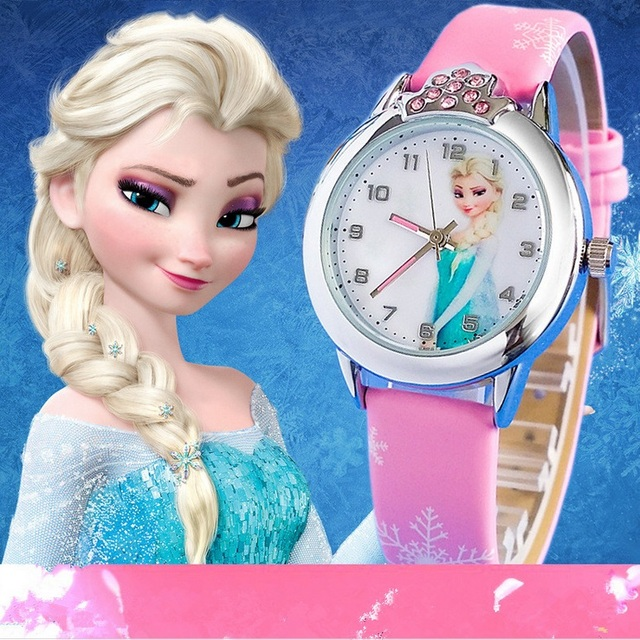 Zegarek dziecięcy dla dziewczynki Kraina Lodu Elsa i Anna
