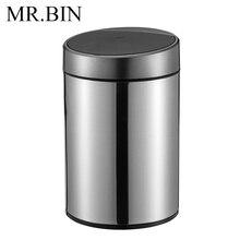 MR. BIN 10L умный сенсорный мусорный бак 410 нержавеющая сталь ногами мусорное ведро для очистки современная мода автоматический датчик мусорное ведро