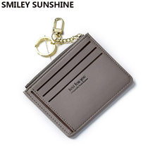 SMILEY SUNSHINE soft leather mini slim women wallets and purses female small card coin wallet short ladies purse money bag 2018(China)