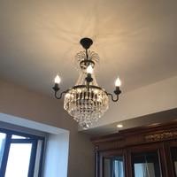 Современные Люстры для Гостиная Кухня декоративные люстры для дома Черный хрустальные люстры, хрустальные лампы люстра светодиодная с пул