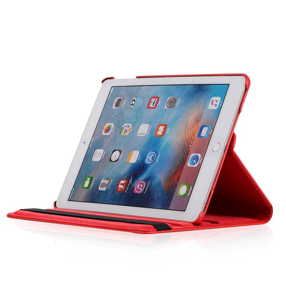 For ipad 9 7 2018 case lichee grain 360 degree rotate Full Protective Flip Cover For ipad air For ipad 2017 coque for ipad air 2 in Tablets e Books Case from Computer Office