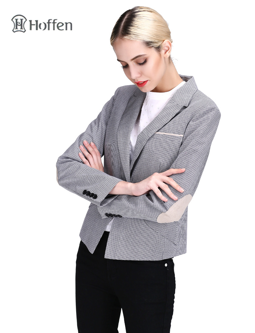 Hoffen Fashion OL ქალები Blazer ქურთუკი - ქალის ტანსაცმელი - ფოტო 3