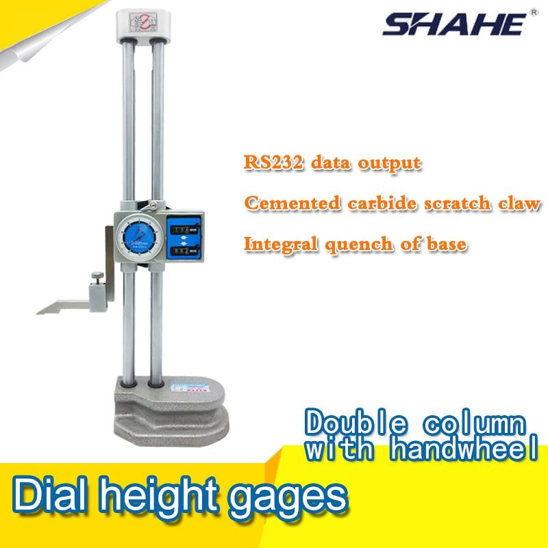 Dupla fényű Dlal magasságmérő asztali oszlop magas lábszinttel 0-300mm * 0,01mm.
