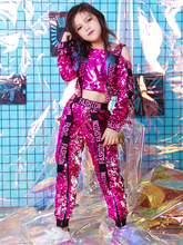 New childrens costumes girls dance clothes sequins street performance drums jazz