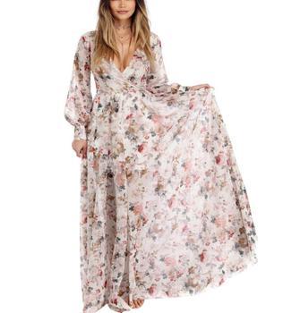 3ec522789e2 Product Offer. Летнее Длинное шифоновое платье с цветочным принтом Boho