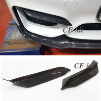 CF Kit PSM Style Real Carbon Fiber Front Lip Bumper Spoiler For BMW F82 M4 F80 M3 2015 Year Up Car Styling