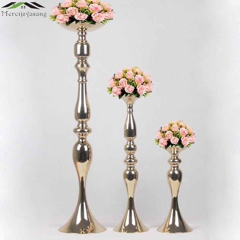 מחזיקי נרות זהב שולחן פרחים אגרטל 73cm / - עיצוב לבית