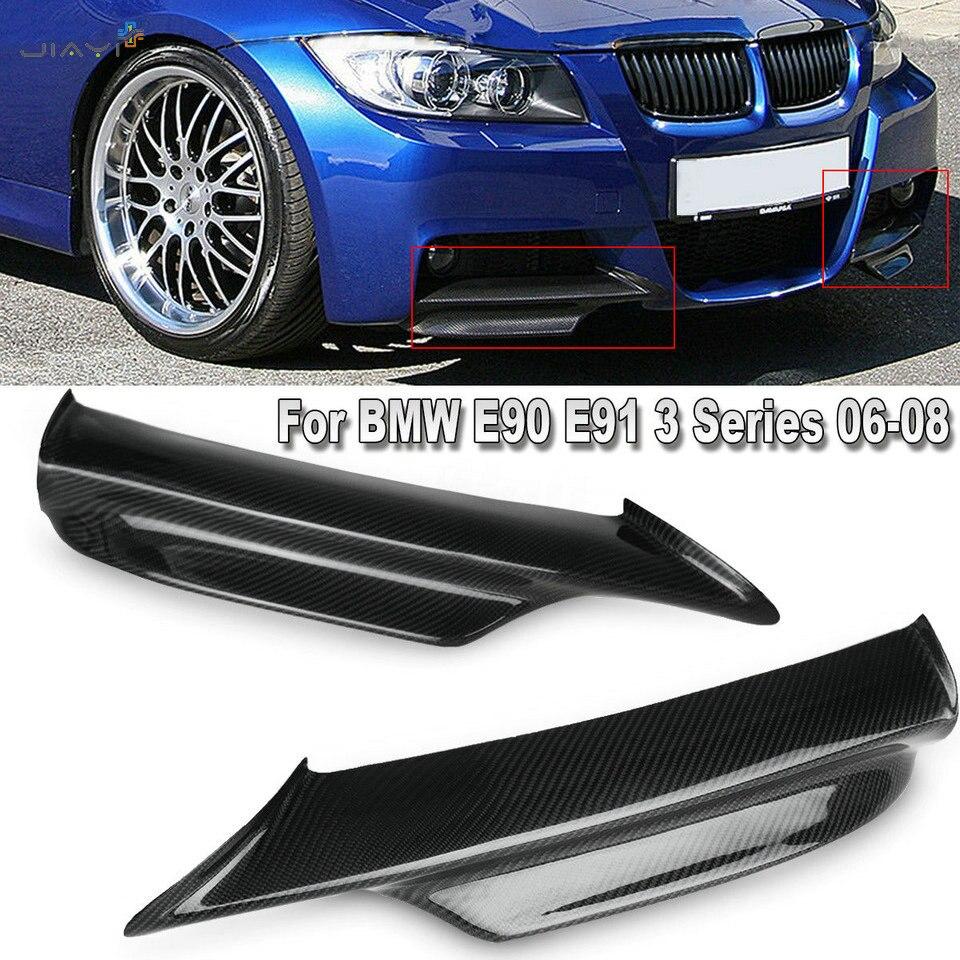 30a4274b065c Real Carbon Fiber Front Bumper Splitter Lip Flaps Spoiler Cupwings ...