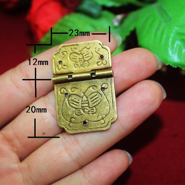 Bulk Brass Butterfly Carved Hinge Decor Door Hinges Wooden Gift Jewelry Box  Hinge Fittings Furniture Hardware