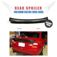 Rear Spoiler Trunk Boot Lip Wing For BMW E46 4Door Sedan 1999 2006 Carbon Fiber Black / PU Grey Car Tuning Parts