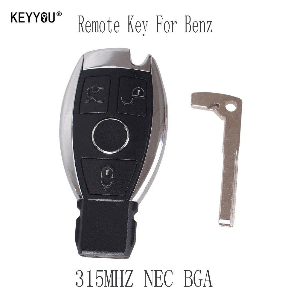 Prix pour KEYYOU 3 Boutons Smart Key À Distance pour Mercedes Benz avec NEC Puce 315 MHz En Option Prend En Charge Voiture Modèles Après Année 2000