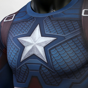 Image 4 - Avengers: Endgame Costume Tights Captain America T shirt Steve Rogers Top Costumes Cosplay Superhero Halloween Party Prop