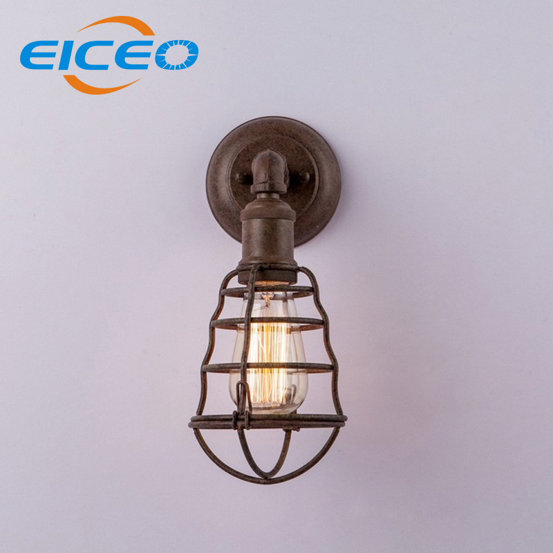 ФОТО (EICEO) Industrial Retro Wall Sconce Lamp Jane European American Country Style Interior Wall Lamp Single Head Wall Lamps AC220V