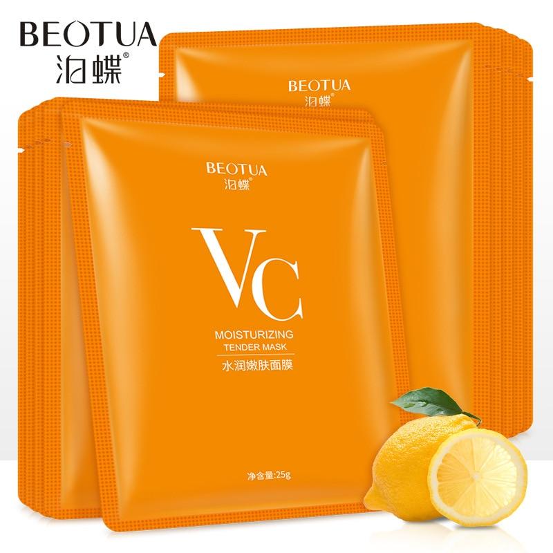 ויטמין C עור טיפול פנים v c גיליון מסכת facemask פנים מסכות קוריאני פנים מסכת הלבנת נשים יופי ובריאות