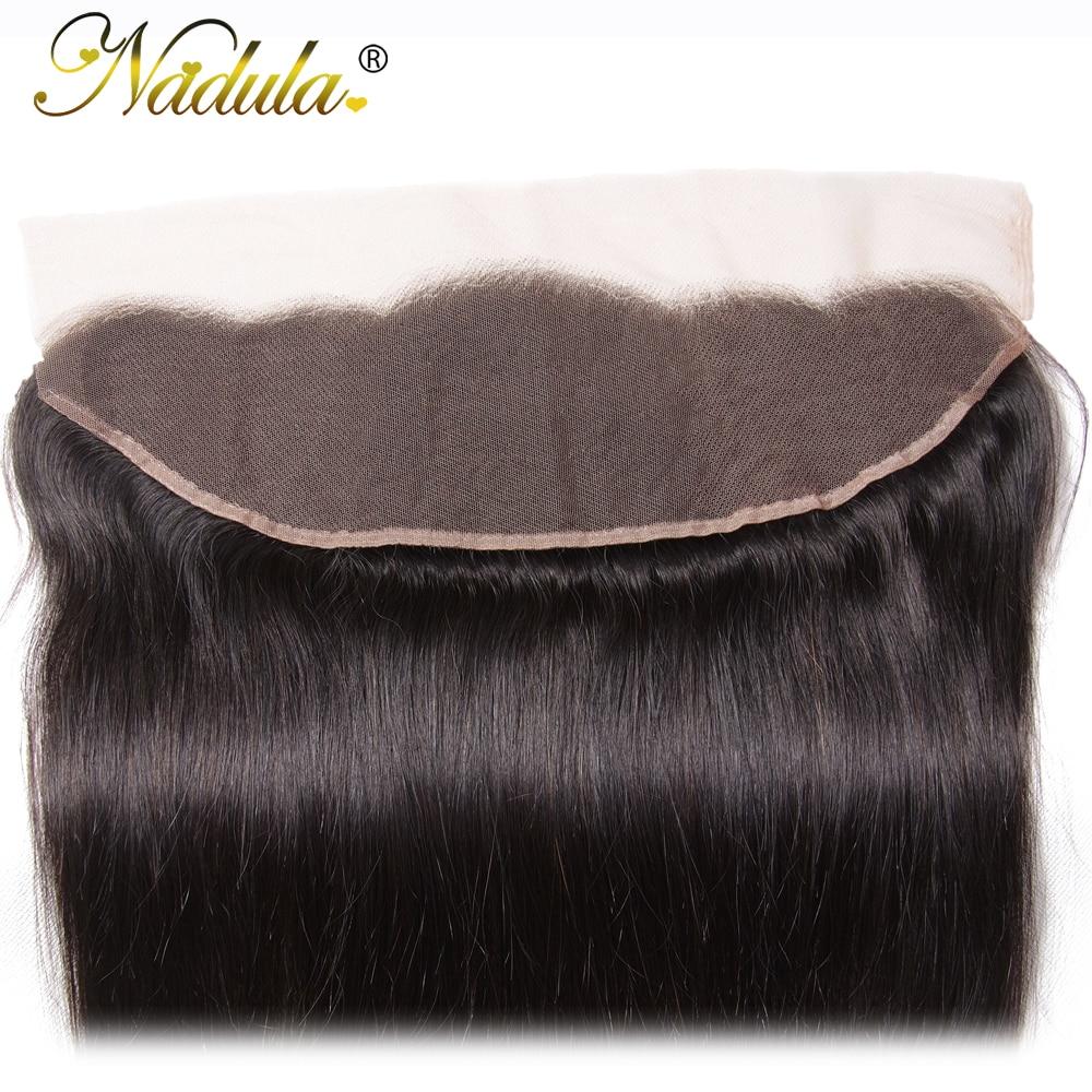 Nadula Hair 13x4  Straight Hair Lace Frontals 10-20inch Free Part Closure 130% Density  Hair  4