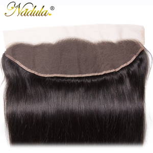 Image 4 - Nadula Hair 13x4 Brazilian Straight Hair Lace Frontals 10 20inch Free Part Closure 130% Density Remy Hair Free Shipping