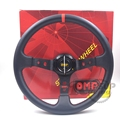 350mm 14inch Red Stitching PVC Racing Tuning Car OMP Steering Wheel