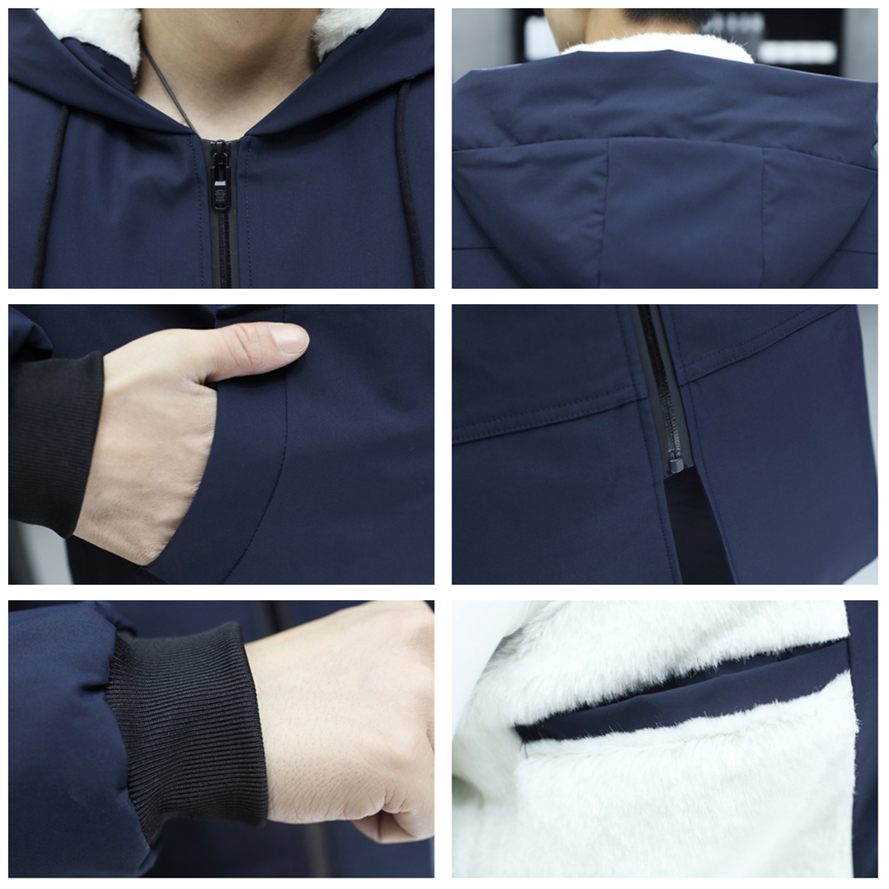 B 5XL 6XL Parkas Men 2018 Winter Jacket Long Thicken Warm Cotton padded Faux Fur Hooded Outwear Street wear Men 39 s Clothing in Parkas from Men 39 s Clothing