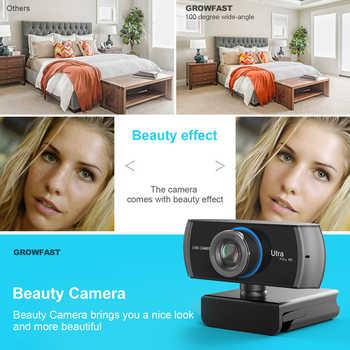 HD Webcam Built-in Dual Mics Smart 1080P Web Camera USB Pro Stream Camera for Desktop Laptops PC Game Cam For Mac OS Windows10/8