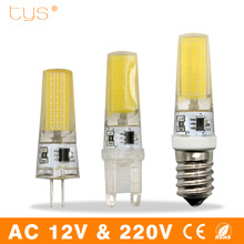 Bombillas LED Bulb G9 G4 E14 3W 6W 9W 220V Lampada Led Lamp 12V COB Chip Dimmable Lampara Led Light Bulb For Chandelier Lighting