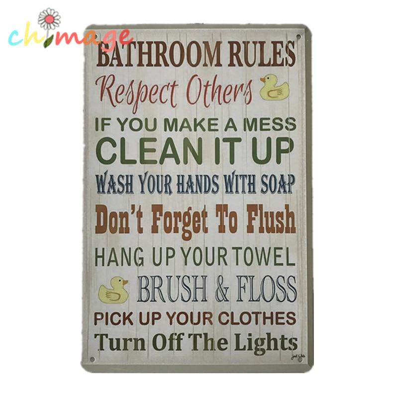 Bathroom Signs Rules online get cheap metal bathroom signs -aliexpress | alibaba group