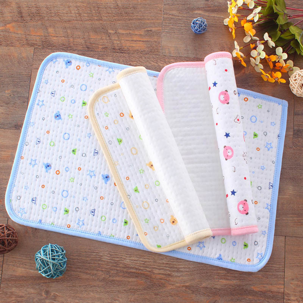 Newest Baby Portable Washable Travel Nappy Cotton Diaper Foldable Waterproof Play Changing Mat