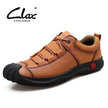CLAX Men Work Boots Genuine Leather Spring Autumn Casual Shoe Male Walking Footwear Safety Soft