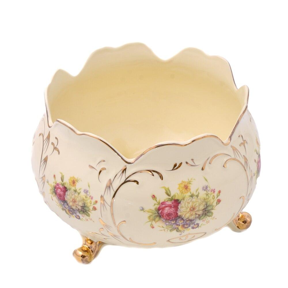 Porcelain Storage Ware Home Decor European Flower Decal Luxury ...