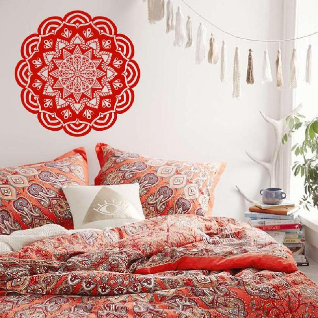 Hause Dekorative Mandala Blume Wandtattoo Art Vinyl Yoga Ornament ...