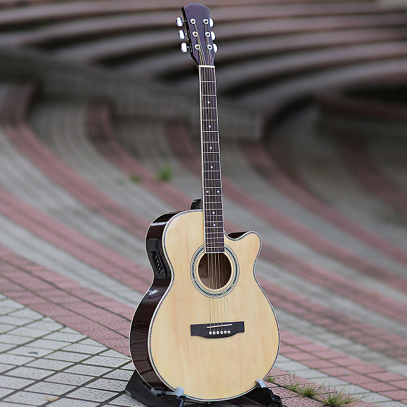 40-50 guitars 40 inch Electric Acoustic Guitar Basswood wood guitar pickup tuner strings custom shop handmade limited edition andy summer tribute tele electric guitar tl guitar boost tuner h switch to s pickup tuner