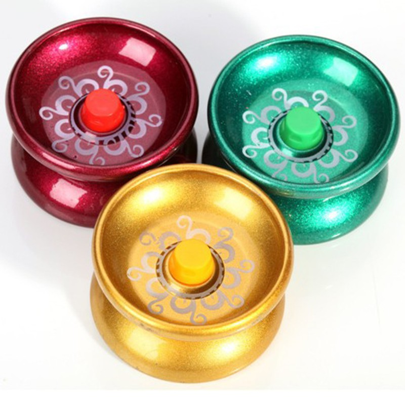 1pc Funny Cool Aluminum Design Allloy YoYo Ball Babies Early Education Kids Toys Random Colors