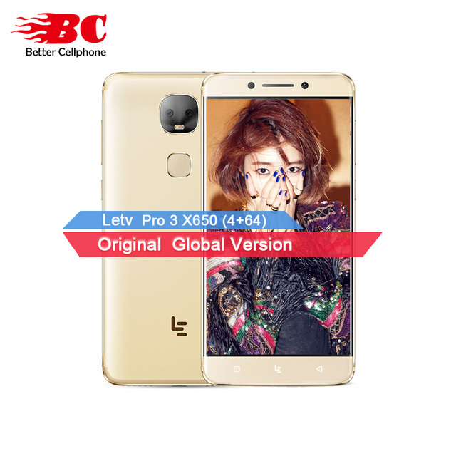 "Original Letv LeEco Le Pro 3 Dual AI X650 Smartphone MTK6797X Deca Core 4GB RAM 64GB ROM 5.5"" Screen 13MP Dual Camera 4000mAh"