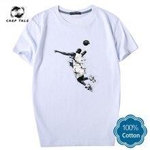 Flying man Jordan men's T-shirt 2019 new trend printing short-sleeved T-shirt casual cotton shirt T-shirt street clothing
