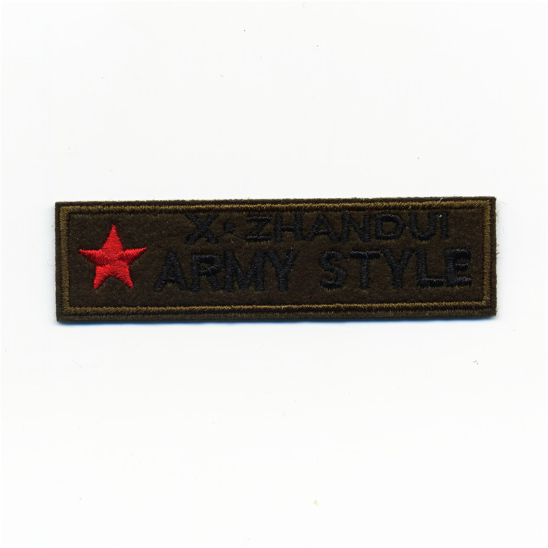 Bomber Jackets Army College Style Embroidery Patches Iron On Or Sew Fabric Sticker For Clothes Embroidered Badge DIY 8CM*2.1CM
