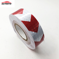 2 164 White With Red Arrows Reflective Warning Conspicuity Tape Shiny Conspicuity Strips Reflective Material