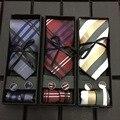 Nova Moda Gravata Do Noivo Gravata Cavalheiro Conjunto de Festa de Aniversário de Casamento presentes Gravata Para Os Homens de Seda Lindo Gravata Fina Gravata Seta conjunto