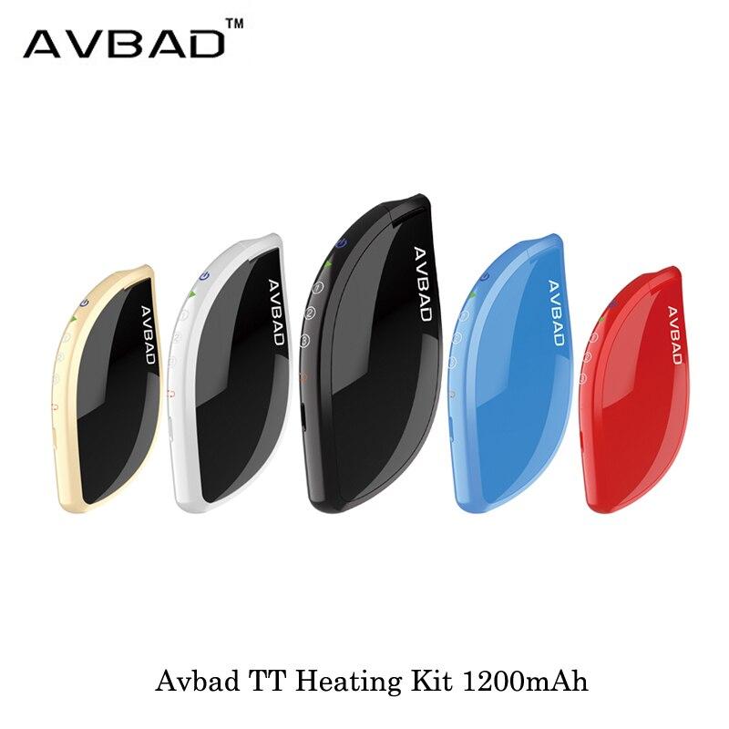 Cigarette électronique Avbad TT Kit de chauffage dispositif 1200 mah Kit de démarrage contrôle de température Vape vaporisateur VS JUSTFOG MINIFIT Kit