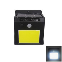 4pcs/Lot  Waterproof outdoor COB solar wall light with PIR sensor Sun power solar garden light