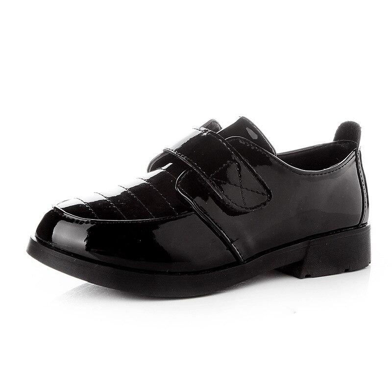 ea7e62dcd48 Moda Niño boda zapatos fiesta zapatos de primavera respirable niño vestido  de cuero chico Zapatos blanco y negro zapatos de la escuela para niños TX71  en ...