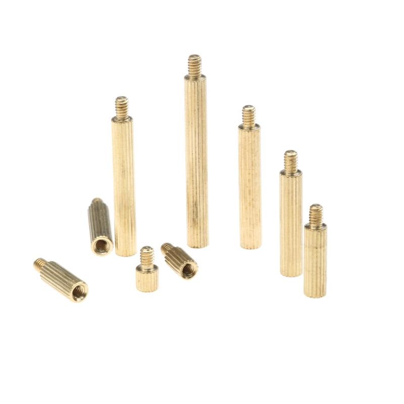 ZENHOSIT 270PCS M2 Series 3 Brass Pillar Single Head Circular Cylinders Copper Screws Bolt Set Kit With Box special copper screws copper hexagon bolt copper outer hexagonal screws m16 80