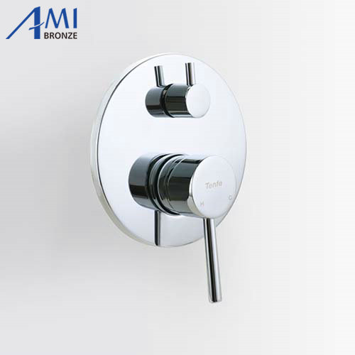 2 Way Shower Faucet Control Valve faucet mixer Valve Panel Hot Cold Mixing With Diverter 4 5 male threaded 2 way angle control stop valve water diverter