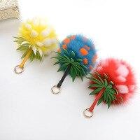 10 Farben Plüsch Puppen Schlüsselanhänger Mode Nerz Plüsch Pom Pom Ball Schlüsselring Charme Tasche Auto Anhänger Schlüsselanhänger Halter Schmuck geschenk