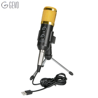 GEVO BM 900 USB Microphone Condenser Wired With Stand Mic For Computer Recording PC Singing Studio Karaoke Upgraded From BM 800