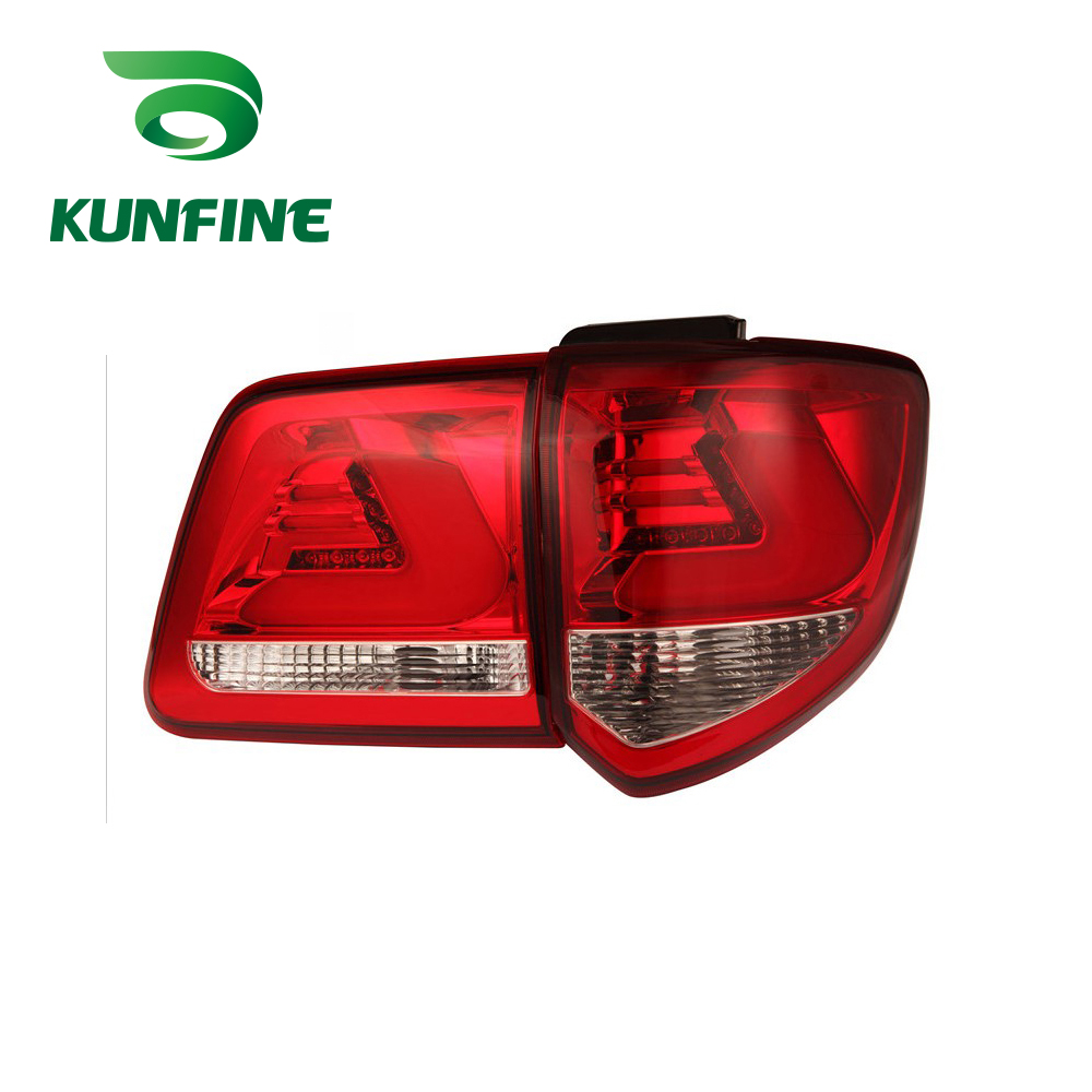 KUNFINE Pair Of Car Tail Light Assembly For TOYOTA FORTUNER 2012 2013 2014 2015 2016 Brake Light With Turning Signal Light yatour car adapter aux mp3 sd usb music cd changer 6 6pin connector for toyota corolla fj crusier fortuner hiace radios