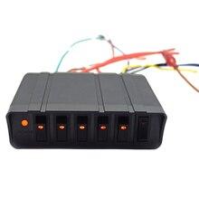 6 цифр автомобильный клавишный выключатель Панель на переключатель включения/выключения коробка 20A Клавишные переключатели