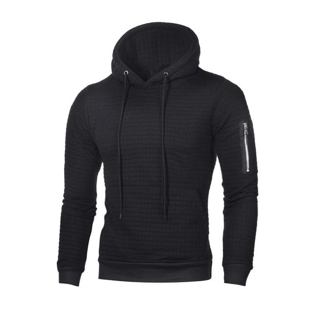 Spring Long Sleeve Hoodies Men Solid Slim Fit Hooded Sweatshirt Fitness Zipper Hoody Male Brand Clothes Streetwear Plus Size 4XL